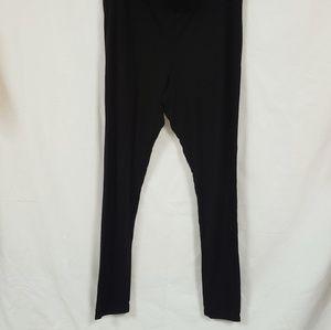 Ladies Soma black Spandex cotton soft leggings lg